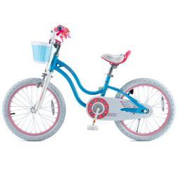 Girls 18 Inch Bicycle for 5-9 Years Old Child's Cycle with B