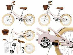 ACEGER Girls Bike with Basket for Kids, 14 inch Training 16
