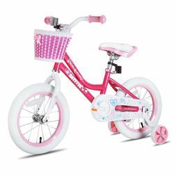 JOYSTAR Girls Bike with Training Wheels for 18 Inch Bike, Ki