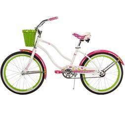 Huffy Girls' Cruiser Bike 20 inch Wheels Cranbrook Steel Fra