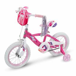 Huffy Girls Glimmer Bike 14 Inch, Pink or Sea Crystal