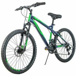 Huffy Girls Mountain Bike 24 inch 18 Speed Alpine, Blue and