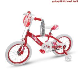 Huffy Glimmer Girls Bike 12,14,16,18in w/ Streamers, Trainin