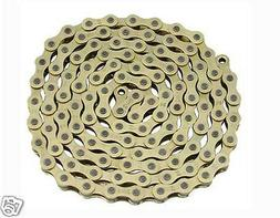 "KMC Gold Bicycle Chain 1/2""x1/8""x 112 Links BMX Lowrider Cho"