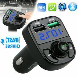 Wireless Bluetooth Auto Handsfree Car AUX Audio FM Receiver