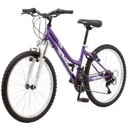 ROADMASTER Granite Peak 24 inch Girl's Mountain Bike - Purpl