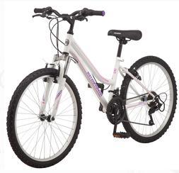 Roadmaster Granite Peak Girls Mountain Bike, 24-inch wheels,