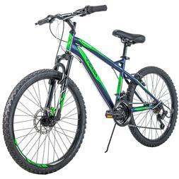 """✅✅✅Huffy 24"""" Nighthawk Boys' Mountain Bike Blue and Gr"""