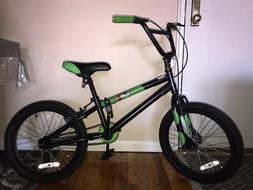 Green Black KRASHX! Boys BMX Bicycle Kids Bike Kid Bikes