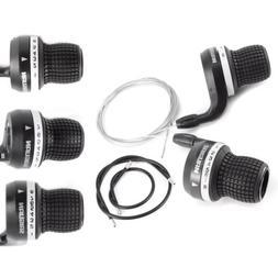 6//7//8 speed Mountain Bike Twist Grips Gears Gripshift Shifters Inner Cable