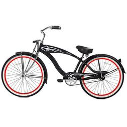 Micargi GTS Beach Cruiser Bike, Black Puma, 26-Inch
