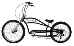 "Extended 26"" Beach Cruiser Bike 68 Spoke Stretch Retro Coast"