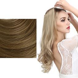 SARLA Halo Synthetic Hairpieces Flip in Synthetic Hair Exten