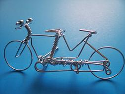 Handcrafted Tandem Bike Ornament ~Mountain Road Bicycle Buil