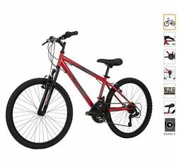Huffy Hardtail Mountain Bike Stone Mountain 24-26 Inch 21-Sp