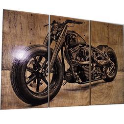 Harley Davidson Fatboy / Softail / Motorcycle / Bike Print W