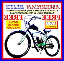 """HIGH POWER 2-STROKE 66CC/80CC MOTORIZED BICYCLE KIT WITH 26"""""""