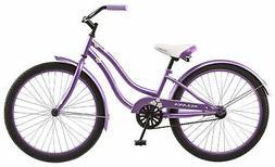 "Kulana Girls Hiku Cruiser Bicycle with 24"" Wheels, Purple, 1"