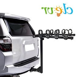 4 Bike Hitch Mount Rack Fits 4 Sedans, Hatchbacks, SUVs Bicy