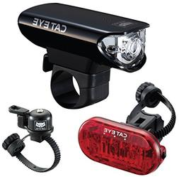 CatEye HL-EL125 OH-2400 Bell Bicycle Headlight/Omni 3 Tailli