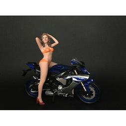 HOT BIKE MODEL CINDY FIGURINE FOR 1/12 SCALE MOTORCYCLES AME