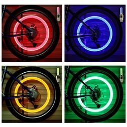 HOT LED NEON Light Valve Stem CAP for Bike Bicycle Car Motor