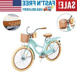 "Huffy 24"" Womens Cruiser Bike with Perfect Fit Frame, Beach"