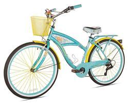 """Kent Hybrid Bike 26"""" Blue Women 7 speed Comfort Bicycle Shim"""