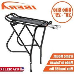 Ibera Bicycle Touring Carrier Rear Rack Adjustable fit 26-29