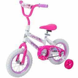 "12"" Inch Huffy Girls' Sea Star Bike White Pink Bicycle Girl'"