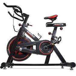 Titan Pro Indoor Exercise Bike w/ 40 lb Flywheel LCD Cycle C