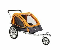 InStep Quick-N-EZ Double Bicycle Trailer, Orange/Gray