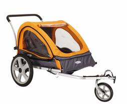 Pacific Cycle InStep Quick N EZ Double Bicycle Trailer,Orang