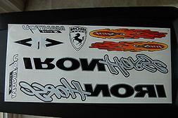 Orange /& Black. Vert Sticker White IRON Horse Manitou X