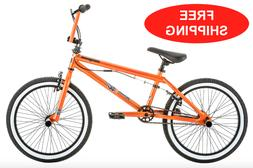 "Mongoose Jam Boy's BMX Bike 20"" Wheels Black Steel Freestyle"