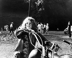 Janis Joplin 16x20 Canvas Classic Image On Motorbike Hippy C