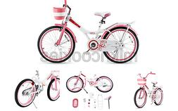 Royalbaby Jenny Girl's Bike, 20 inch Wheels, White/Pink