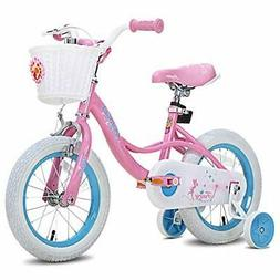 """JOYSTAR Fairy 12"""" 14"""" 16"""" 18"""" Inch Kids Bike with Basket &"""