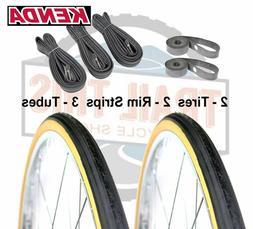 "Two  Pack Kenda K35 Gumwall 27 x 1-1/4"" Road Bicycle Tires W"