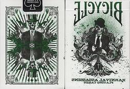 Karnival Assassins Green Bicycle Playing Cards Poker Size De