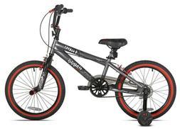 """Kent 18"""" Abyss FS18 BMX Boy's Bike, Charcoal Gray"""