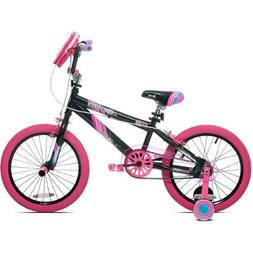 "18"" Girls' Kent Sparkles Bike with Bell Sports Rally Girls C"