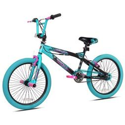 "Kent.. 20"" Girls Trouble Aqua/black Bicycle"
