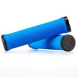 Kona Key MTB Grips Single Lock-On 30mm x 136mm Blue