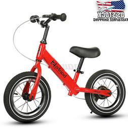 Kid Balance Bike With Brake No-Pedal Learn To Ride Pre Adjus