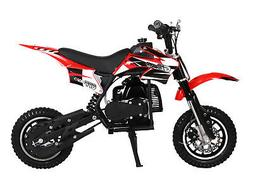 KIDS 49cc 50cc 2-Stroke GAS Motor Mini Pocket Dirt Bike Free
