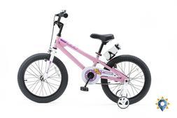 Kids Bike 18 Inch Girls Hot Pink Bmx Bicycle Training Wheels