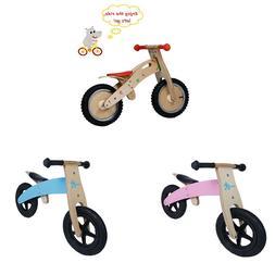 Kids Birch Wooden Riding Balance Bike Outdoor Toddler Runnin
