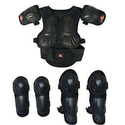 Kids Motorcycle Armor Suit Dirt Bike Chest Spine Protector B