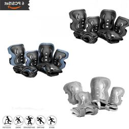 Kids Protective Gear Knee Pads Elbow Wrist for Skating BMX C
